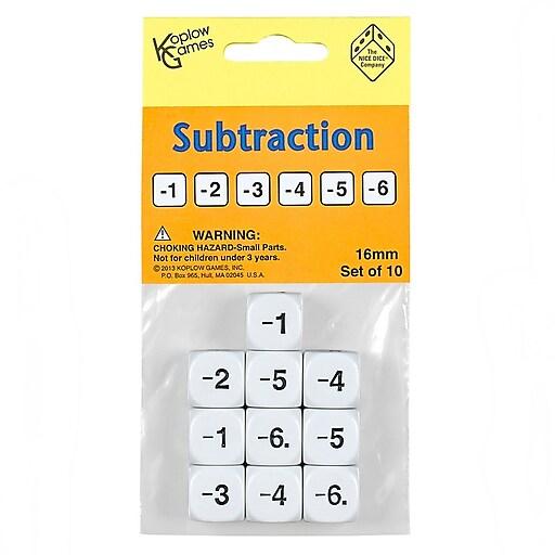 Koplow Games Inc Dice Set, Subtraction, 10/Set