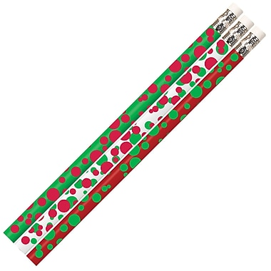 Musgrave Pencil Company Pencil, Dots of Christmas, 12/Pack