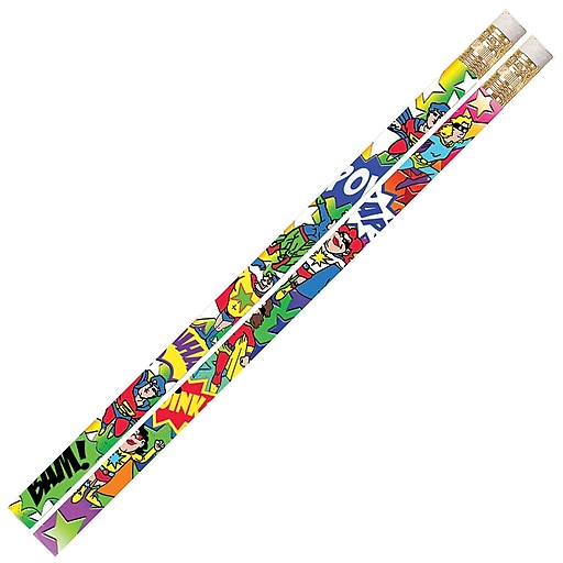 Musgrave Pencil Company Super Duper Heroes Pencils, Multicolor, 144/Pack (MUS2539G)