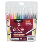 Sargent Art 12-Count Classic Marker, Brush Tip, 8/Pack