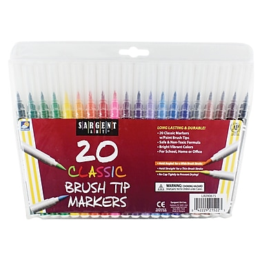 Sargent Art 20-Count Classic Marker, Brush Tip, 192/Pack (SAR221522)