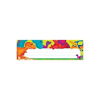Trend Enterprises® Desk Toppers® Name Plate, Dino-Mite Pals, 8/Pack