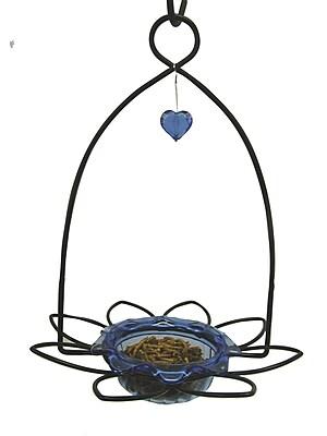 Birds Choice Bluebird Flower Decorative Bird Feeder