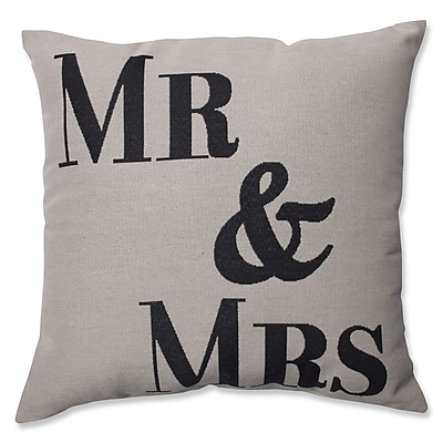 Pillow Perfect Mr. and Mrs. Throw Pillow