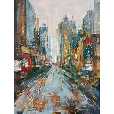 Portfolio Canvas 'City View I' by Jill Barton Framed Painting Print on Wrapped Canvas