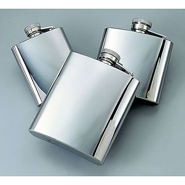 Creative Gifts International 8 Oz. Stainless Steel Bright Flask