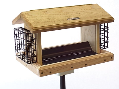Birds Choice 5 Quart 2-Sided Cedar Suet Bird Feeder
