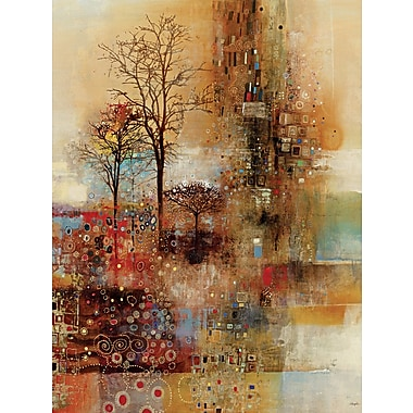 Portfolio Canvas 'Golden Park' by Douglas Framed Painting Print on Wrapped Canvas