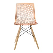 Aeon Furniture Contemporary Sandra Side Chairs (Set of 2); Orange