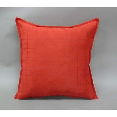 Essential Mendon Embossed Suede Toss Throw Pillow (Set of 2); Brick Red
