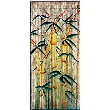 Bamboo54 Bamboo Forest Graphic Print & Text Semi-Sheer Single Curtain Panel