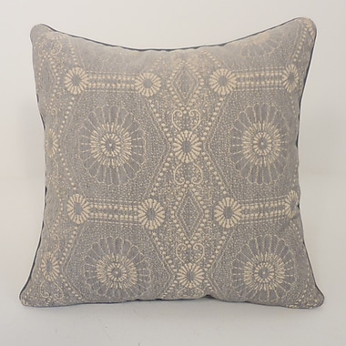 Essential Heston Chenille Medallion Toss Throw Pillow (Set of 2); Silver