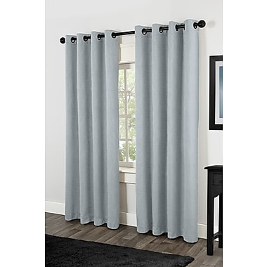Amalgamated Textiles Rita Heavyweight Solid Blackout Thermal Grommet Curtain Panels (Set of 2)