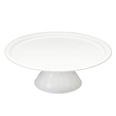Red Pomegranate Vento Footed Cake Stand; White