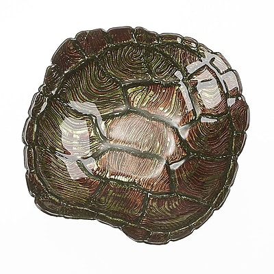 Red Pomegranate Sea Turtle Bowl; Green/Gold