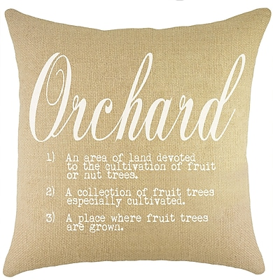 TheWatsonShop Orchard Burlap Throw Pillow; Natural