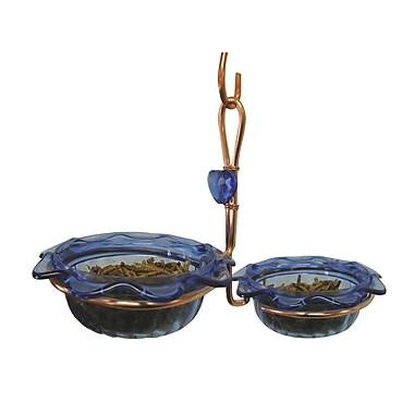 Birds Choice Double Cup Bluebird Decorative Tray Bird Feeder