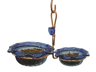 Birds Choice Double Cup Bluebird Decorative Tray Bird Feeder