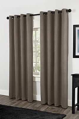 Amalgamated Textiles Rita Solid Room Darkening Thermal Grommet Curtain Panels (Set of 2); Cafe