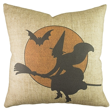 TheWatsonShop Witch w/ Moon Throw Pillow