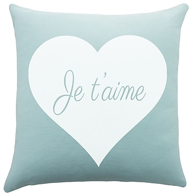 TheWatsonShop Je T'aime Cotton Throw Pillow