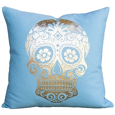 TheWatsonShop Sugar Skull Cotton Throw Pillow