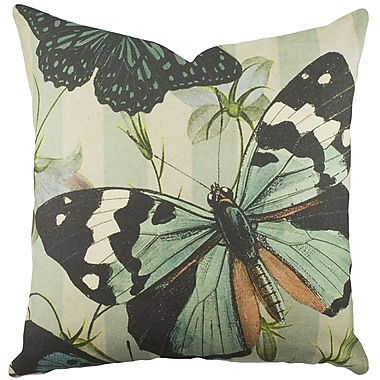 TheWatsonShop Butterfly Cotton Throw Pillow