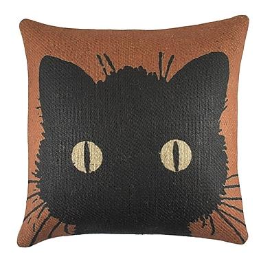 TheWatsonShop Cat Burlap Throw Pillow