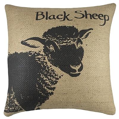 TheWatsonShop Sheep Burlap Throw Pillow