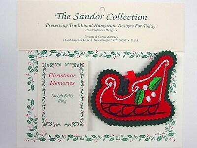 The Sandor Collection Christmas Memories Sleigh Bells Ring Christmas Tree Ornament