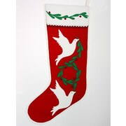 The Sandor Collection Dove of Peace Christmas Stocking
