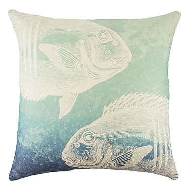 TheWatsonShop Fish Cotton Throw Pillow