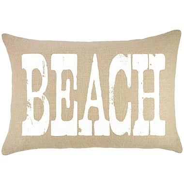 TheWatsonShop Beach Burlap Lumbar Pillow