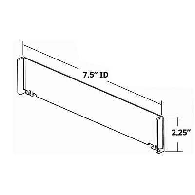 Azar 50/Pack Tall End Dividers 2.25 x 7.5-inch