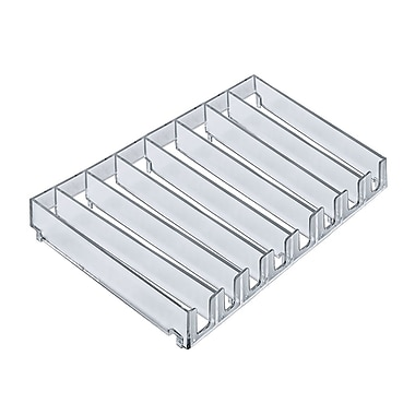 Azar Displays 8-Compartment Modular Tray Inserts, 2/Pack (225918)