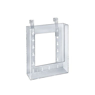 Azar Displays Hanging Brochure Holder, 7.87