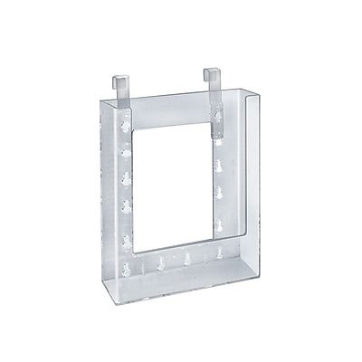 Azar Displays Hanging Brochure Holder, 7.87 x 6.25-inch