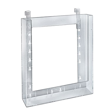 Azar Displays Letter Size Hanging Brochure Holder, 10/Pack (252342)