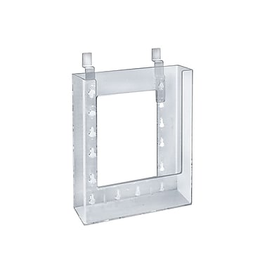 Azar Displays Letter Size Slatwall Brochure Holder, 9 x 6, 10/Pack (252344)
