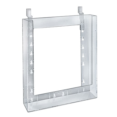 Azar Displays Letter Size Slatwall Brochure Holder, 11.25 x 9.12, 10/Pack (252345)