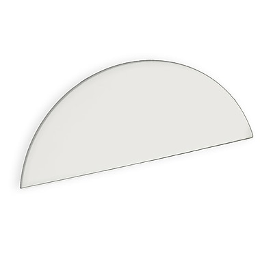 Azar Displays Mirror White Round Header 6.5 x 16-inch (700035)