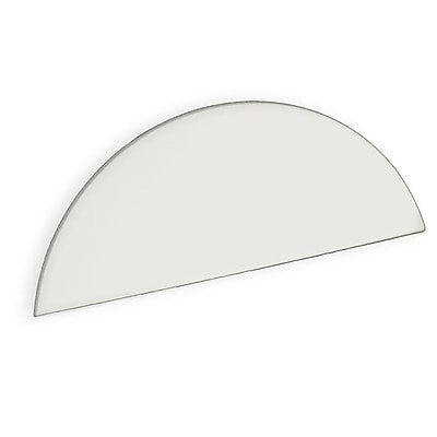 Azar Displays White Half Round Header Sign, 6.5 x 16-inch