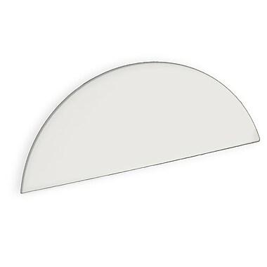 Azar Displays White Half Round Header Sign, 5.5