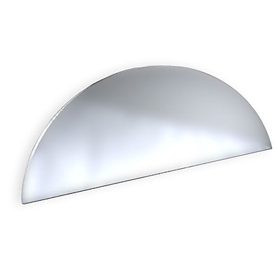 Azar Displays Mirror Half Round Header 3.5 x 8-inch