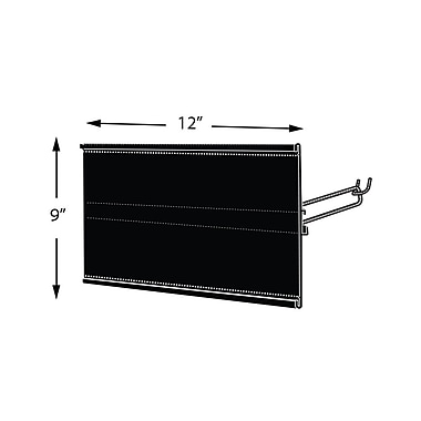 Azar Displays Extended Graphic Sign Holder, Black