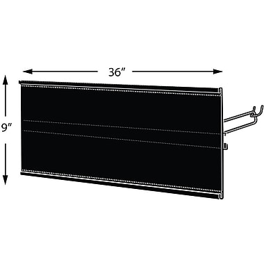 Azar Displays Extended Graphic Sign Holder, Black, 9