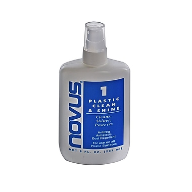 Azar Displays Plastic Clean & Shine Polish, 8 oz (NOVUS-7020)