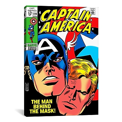 iCanvas Marvel Comics Book Captain America Issue Cover Graphic Art on Wrapped Canvas