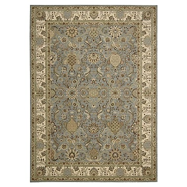 Kathy Ireland Home Gallery Lumiere Stateroom Slate/Brown Area Rug; 7'9'' x 10'10''