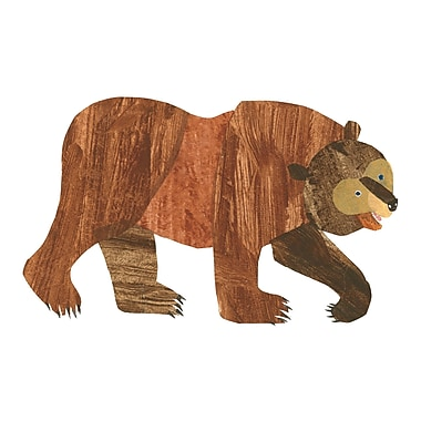 Marmont Hill 'Brown Bear' by Eric Carle Painting Print on Wrapped Canvas; 24'' H x 36'' W